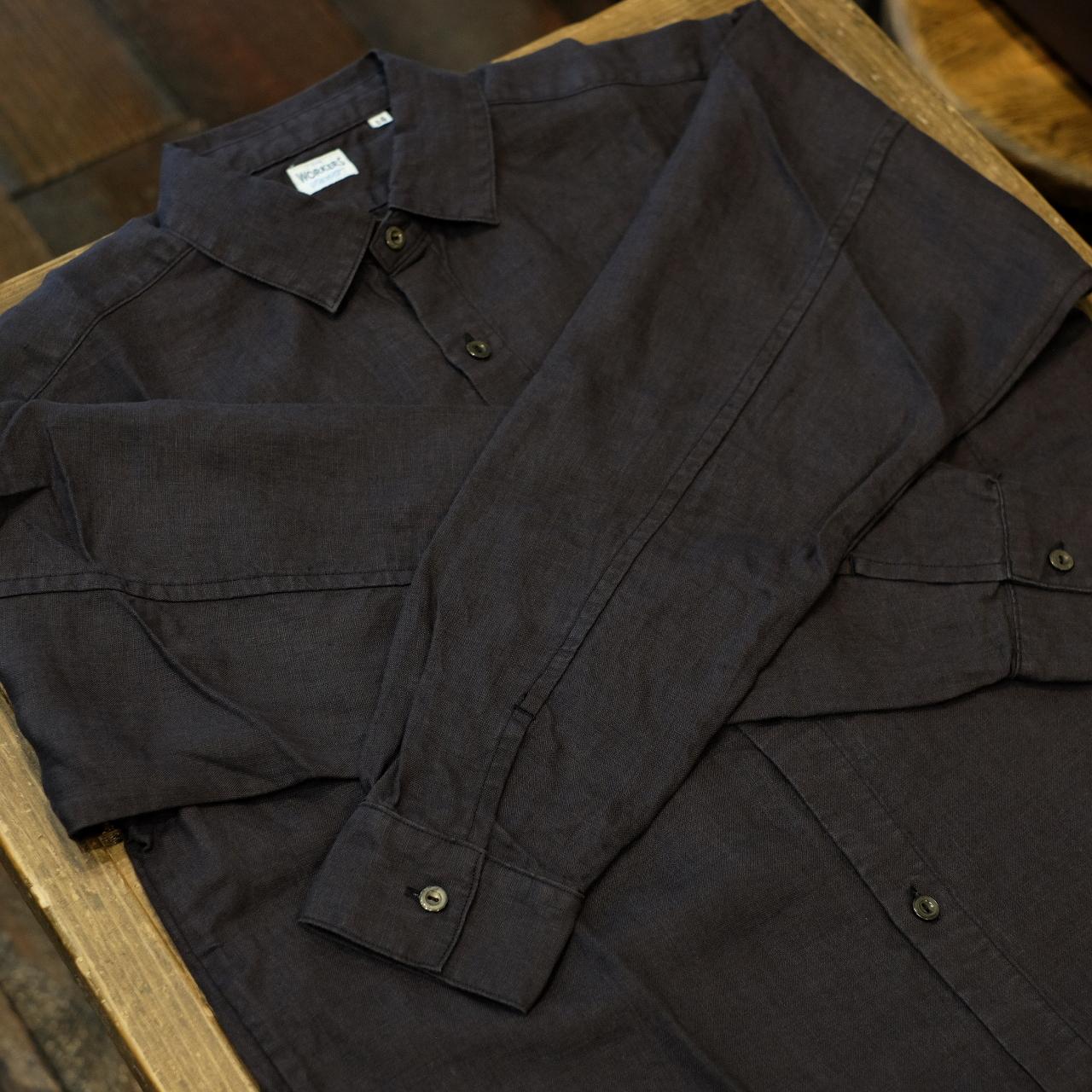 Workers(ワーカーズ) リネンシャツ ブラック