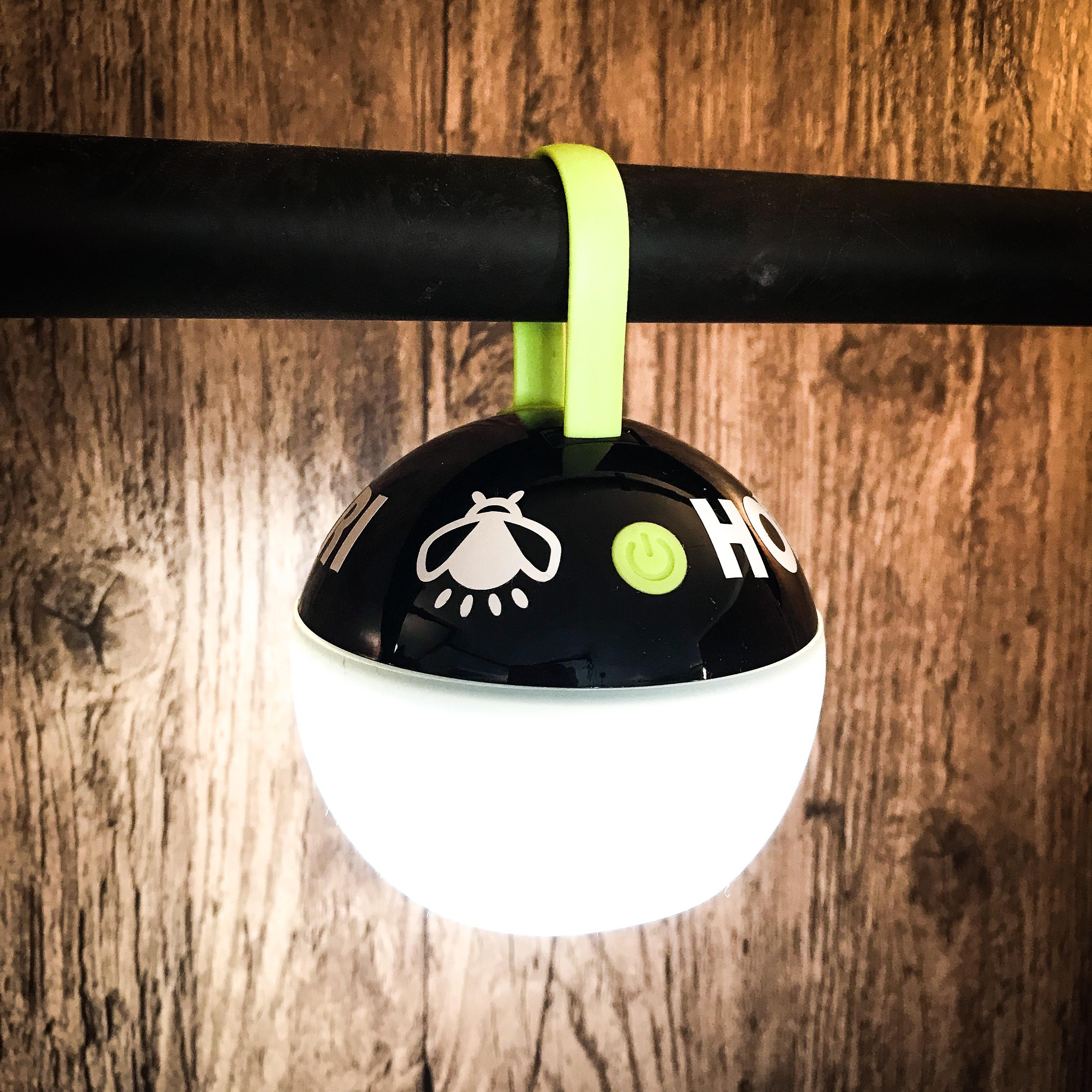 ホタルノオシリ LEDランタン 黒緑
