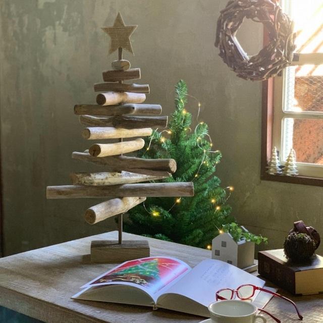 クリスマス モミの木 流木風ツリー(H約67cm)