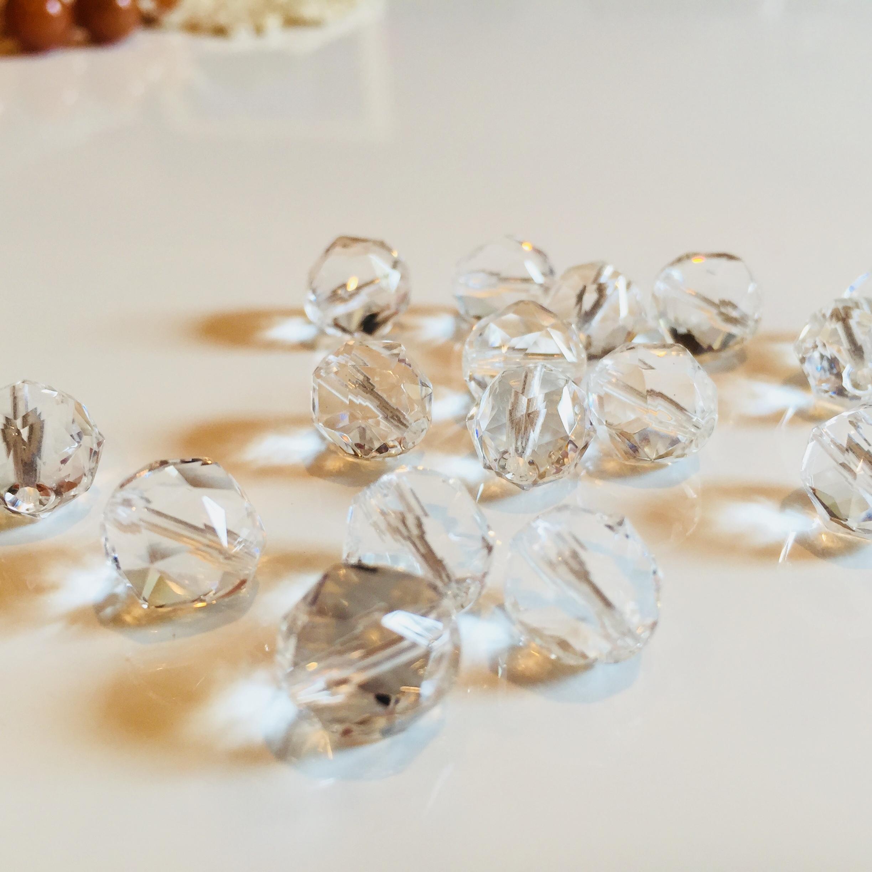 才能開花の石|水晶 10mmカット玉
