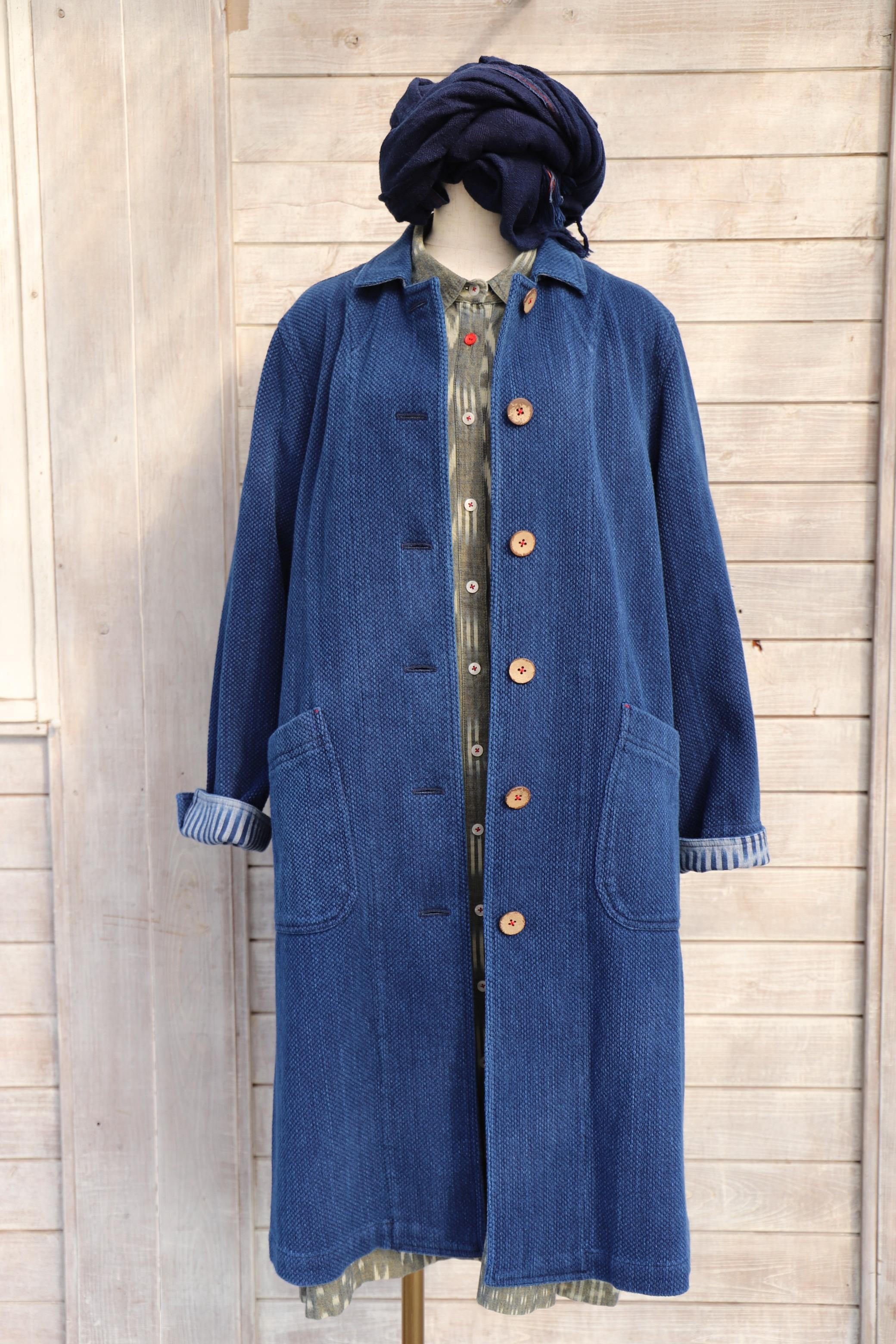 CT-07 藍染刺織コート