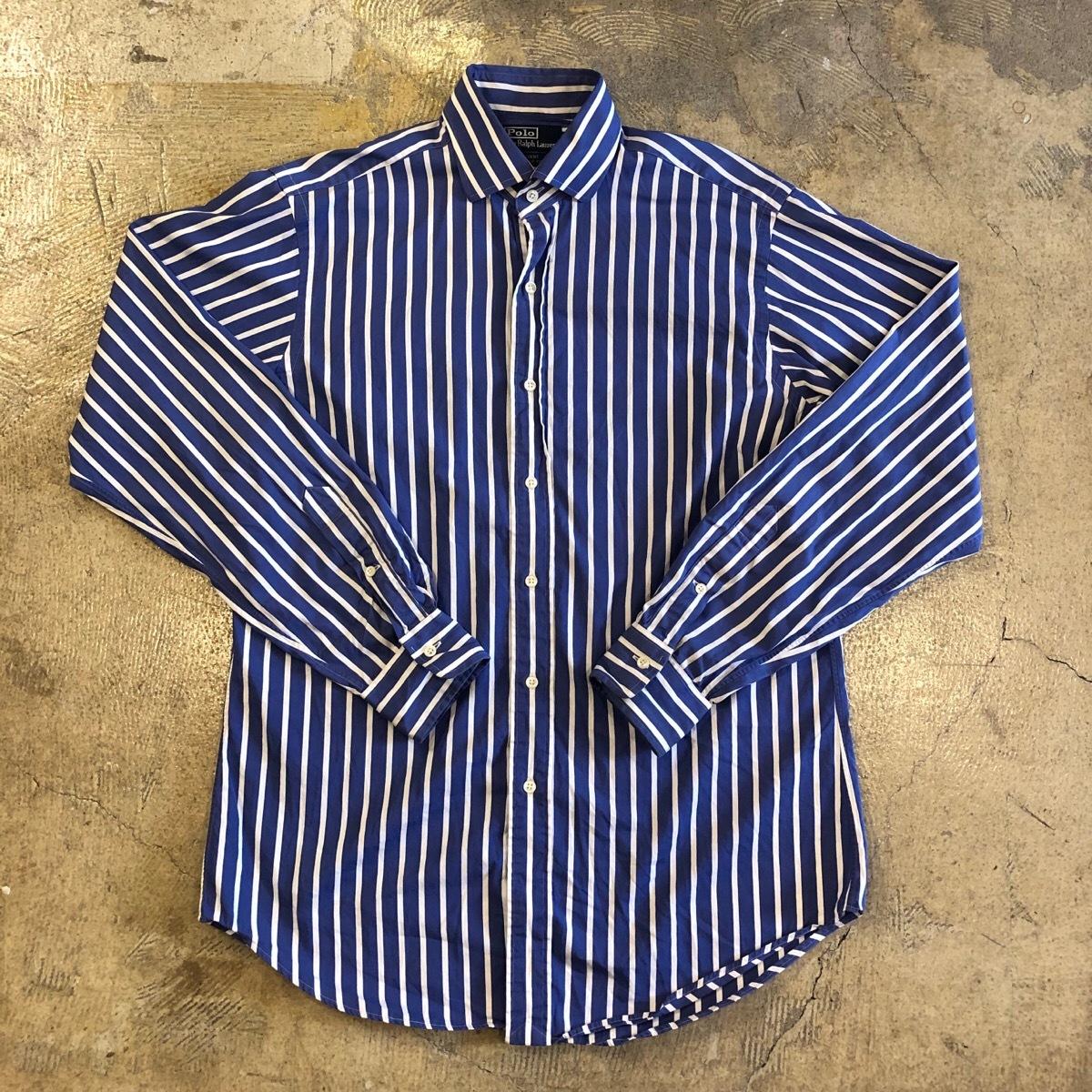 Ralph Lauren Striped L/S Button Down Shirt 2 ¥4600+tax