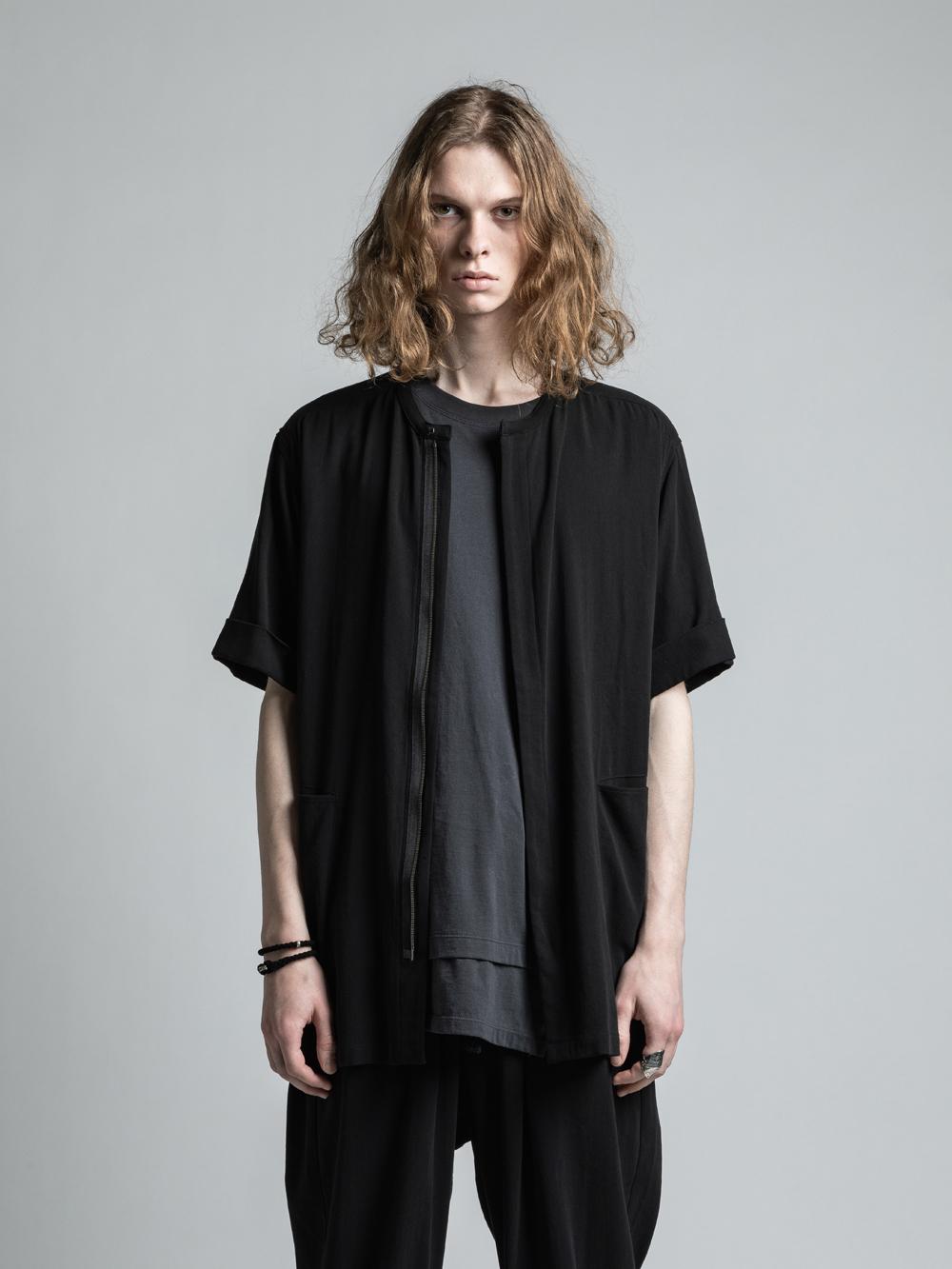 VI-3200-02 / 強撚二重織りコットン半袖シャツ