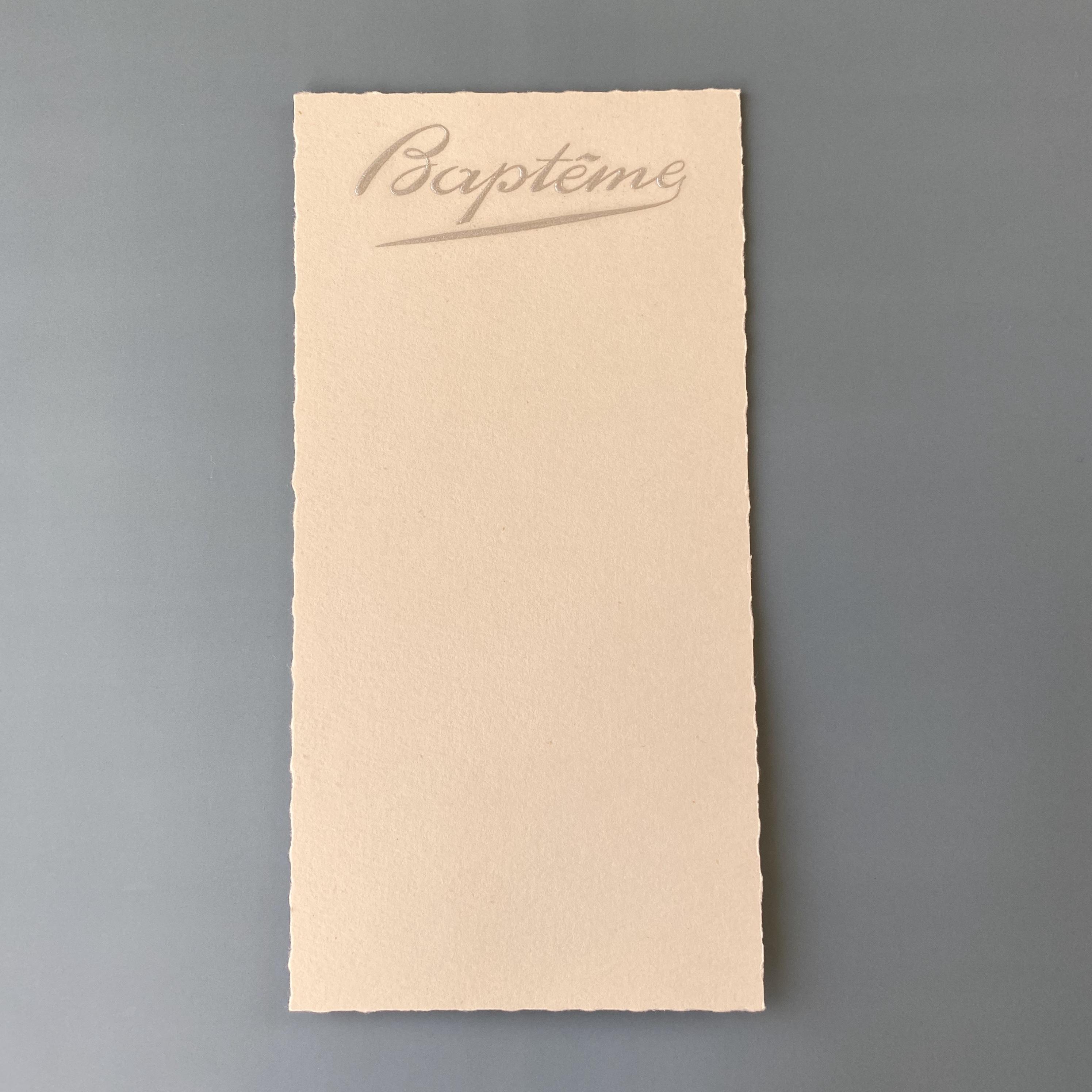 France  Baptêmeカード e / vp0157
