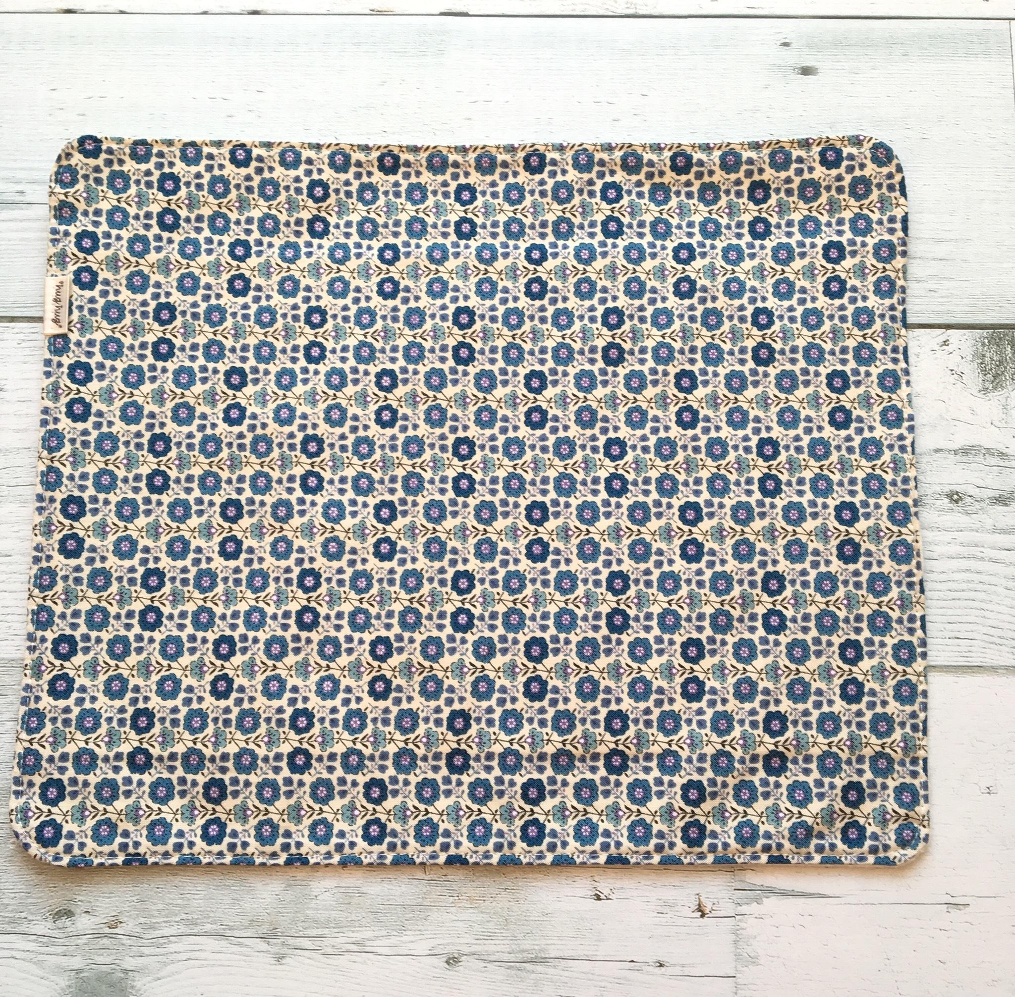 ナプキン 小花ブルー