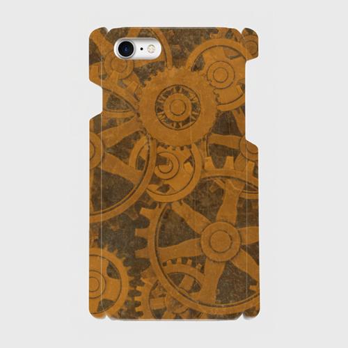 歯車スチームパンク(茶)/iPhoneスマホケース(ハードケース)