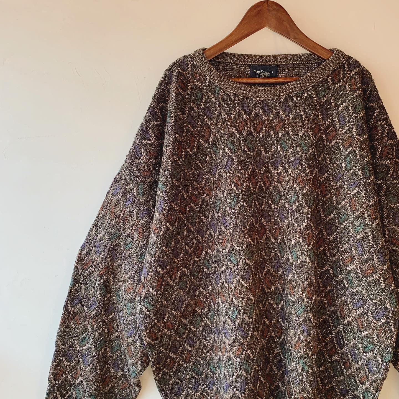vintage oversized design knit sweater
