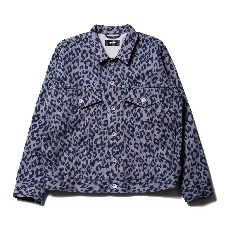 Leopard denim jacket / GRAY - 画像1