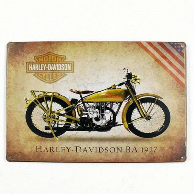 【ブリキ看板】ハーレーダビッドソンBA1927 小型版[A63315]