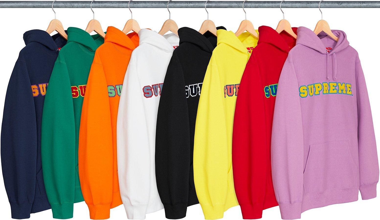 Supreme Cord Collegiate Logo Hooded Sweatshirt