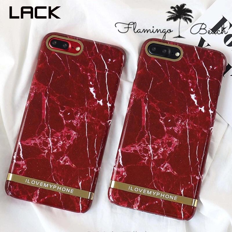 【FlamingoBeach】red marble iPhoneケース
