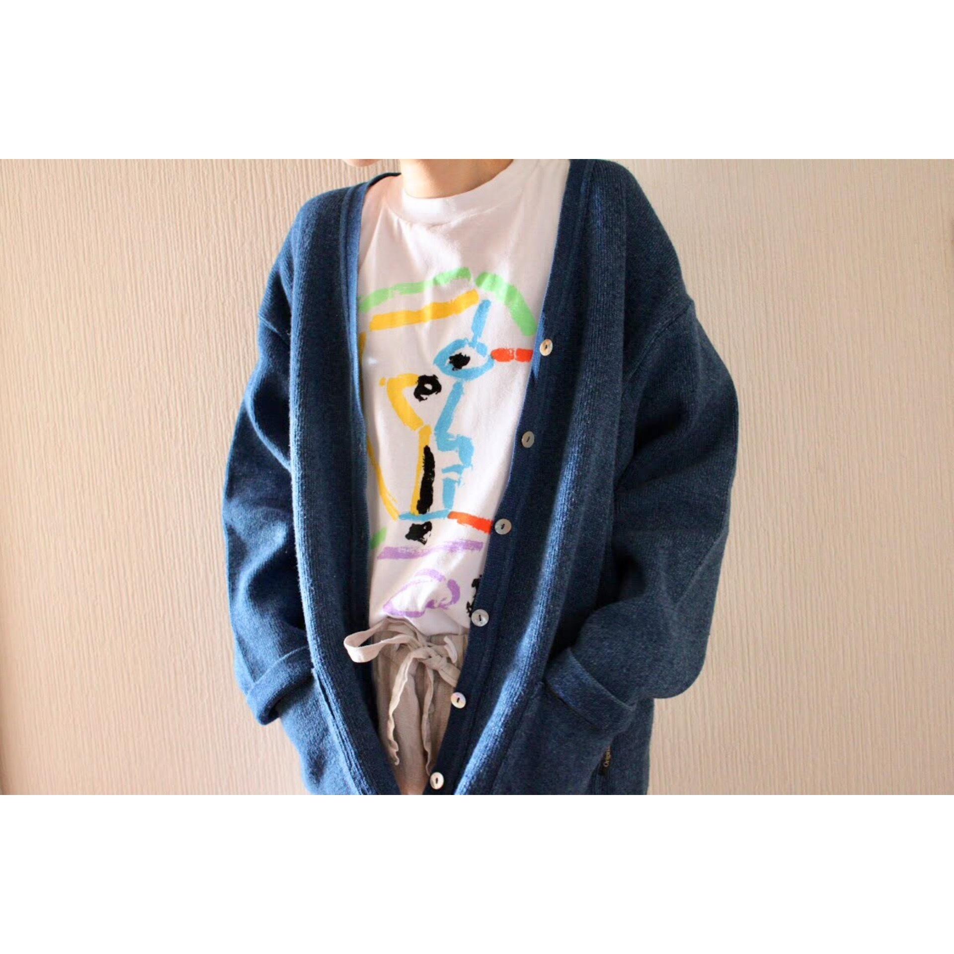 Vintage indigo cardigan