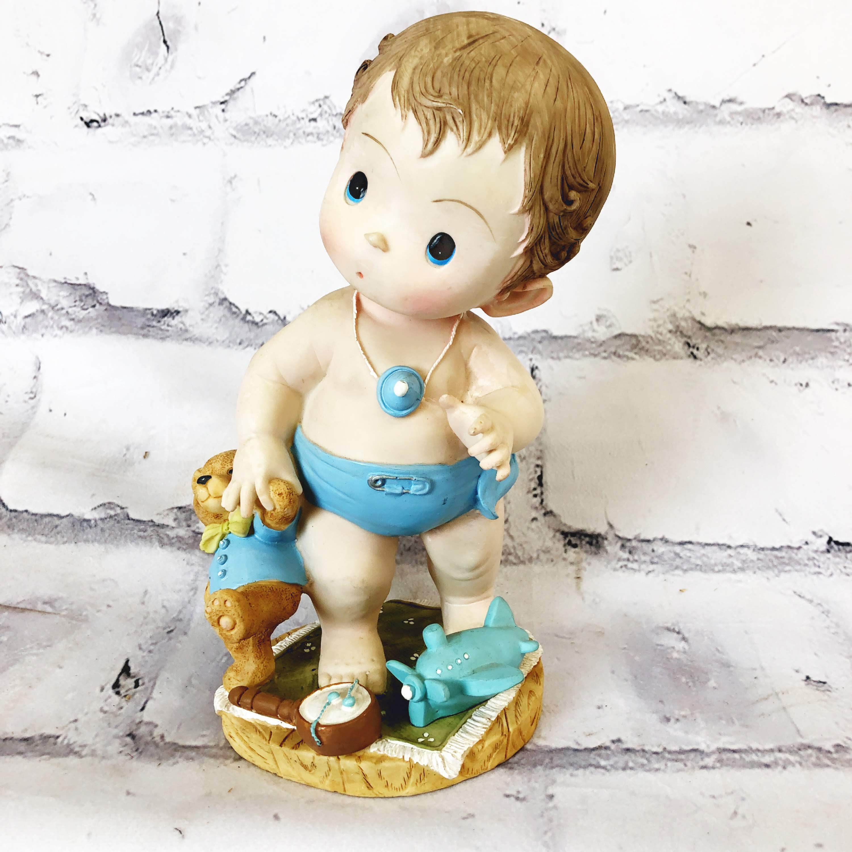 品番1461-1 赤ちゃん人形 置物 ベイビー 男の子 ドール インテリア ディスプレイ ヴィンテージ