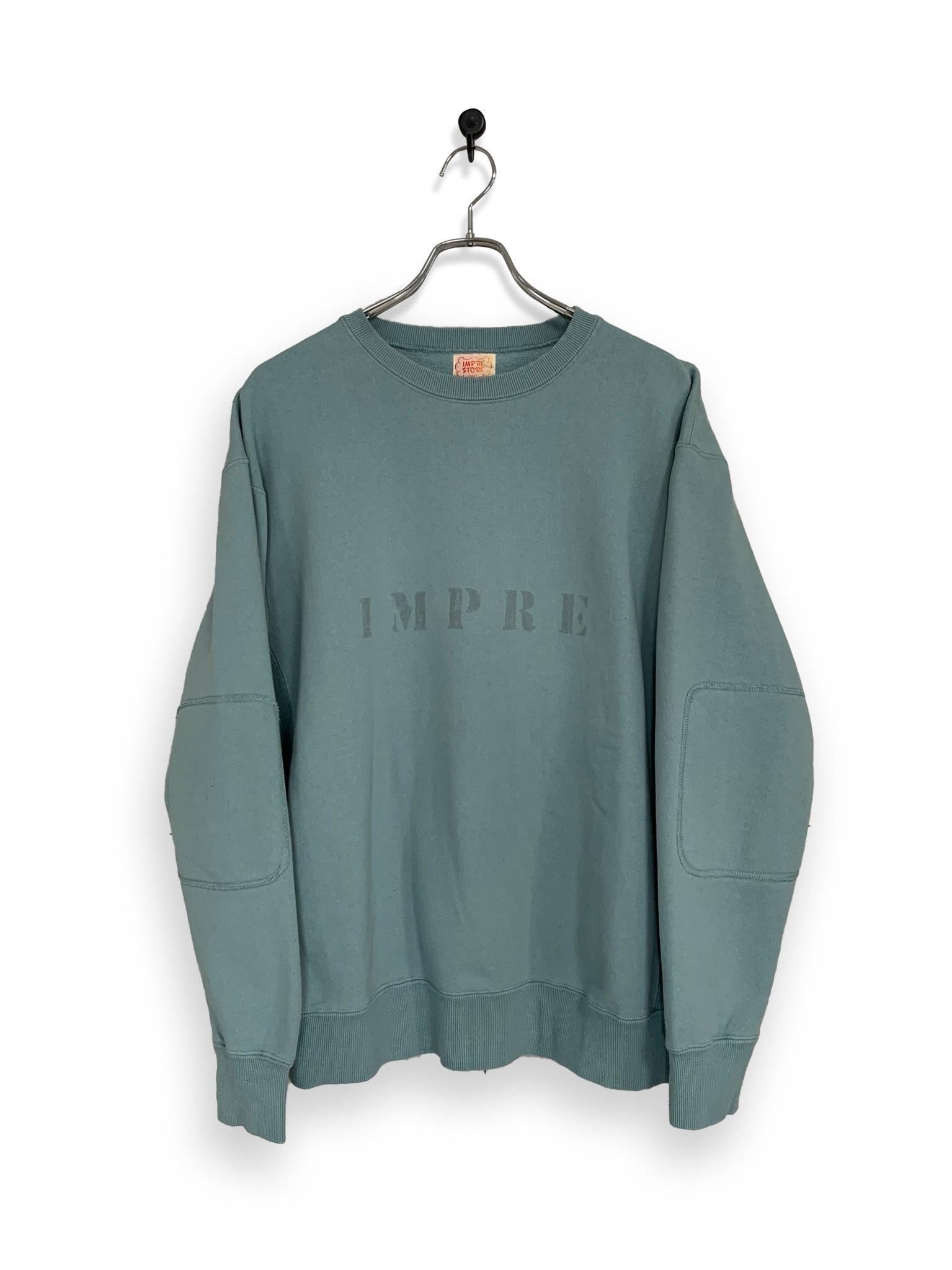 Original Sweatshirt / stencil / sax blue