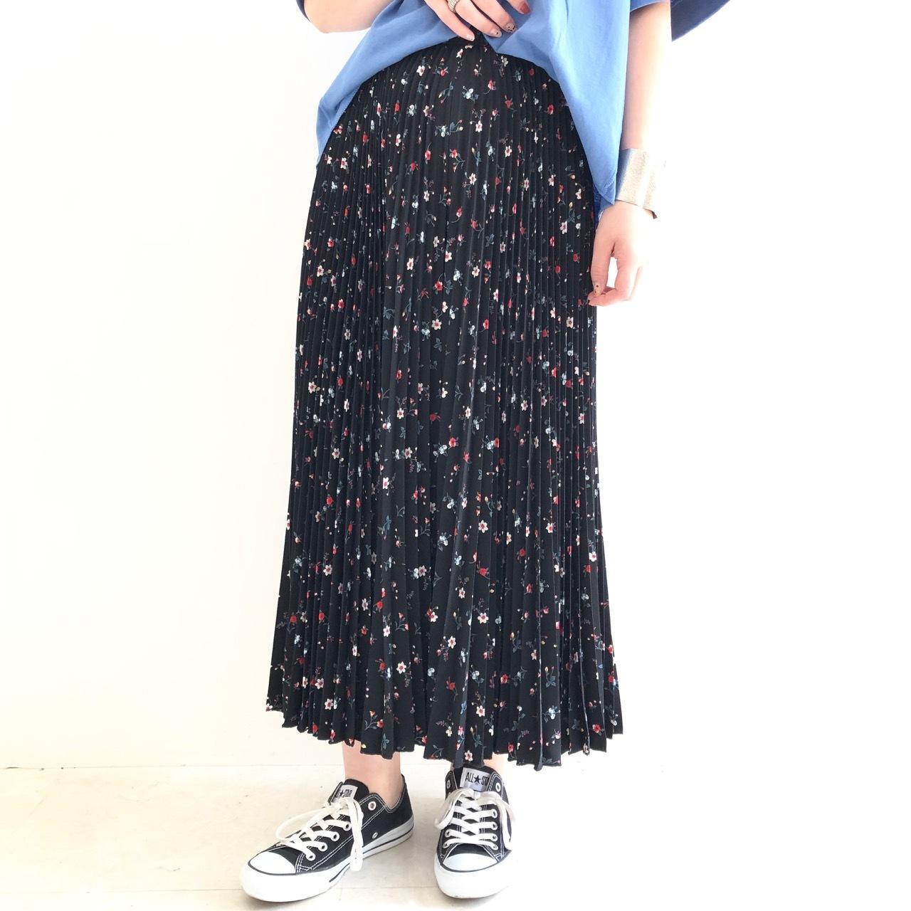 【 Valance select 】花柄プリーツパンツスカート