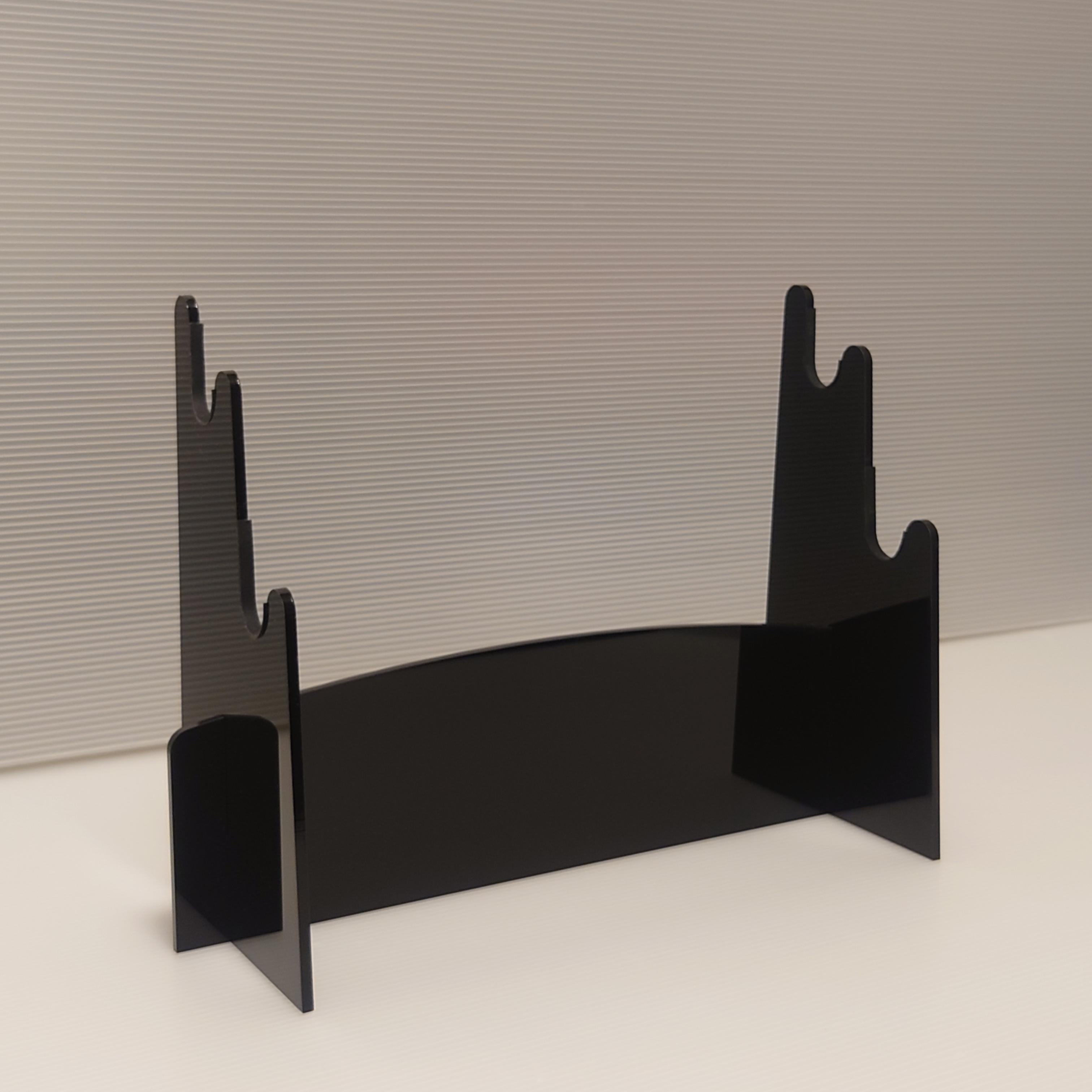組立式アクリル刀掛け(黒)