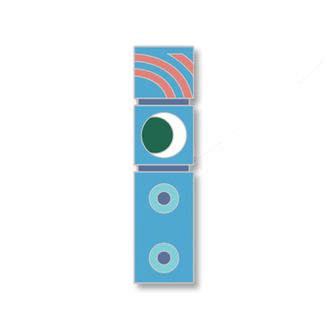 【Monument Valley 2(モニュメント・バレー 2)】ドーテム ピンバッジ - 画像2