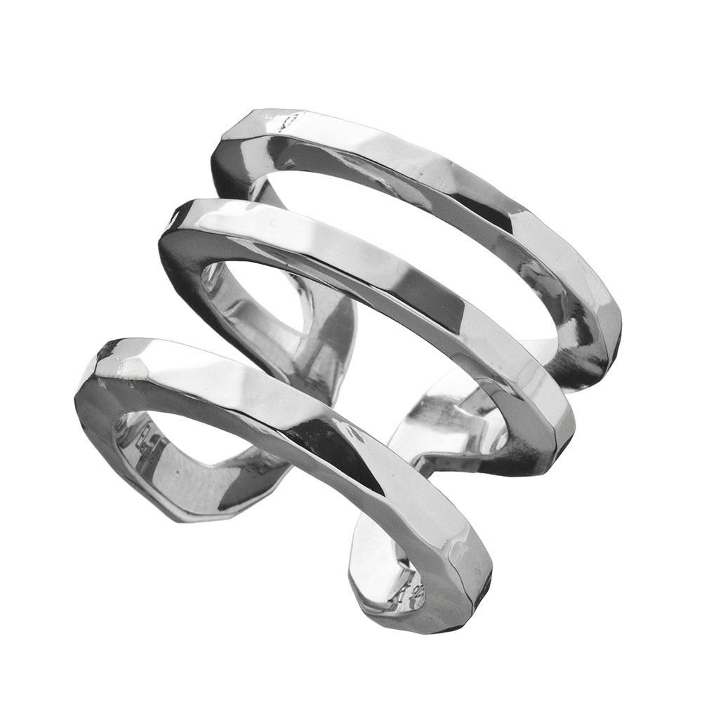 Elenore Jewelry×ARTEMIS KINGS トリプルカフリング シルバーリング 9号~14号 AKELR0003  Triple cuff ring Silver ring No. 9-14