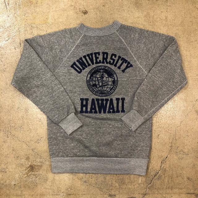 70's Hawaii University Raglan Sweat ¥5,400+tax
