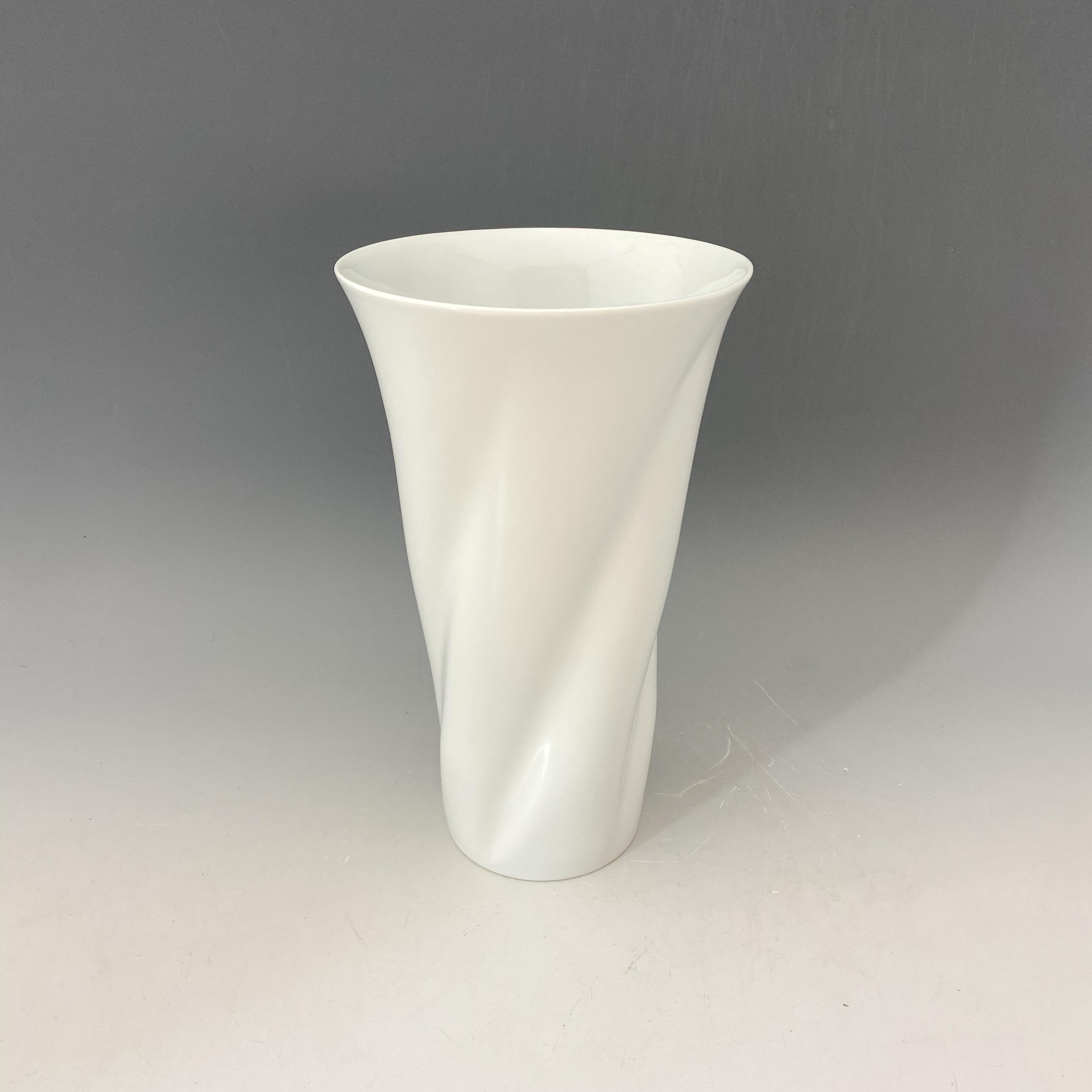 【中尾純】白磁ひねり花器