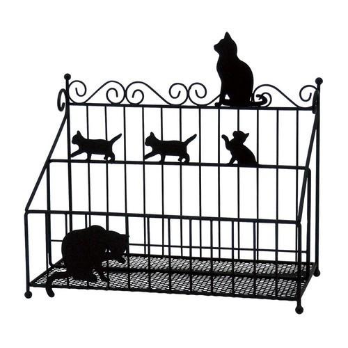 猫ラック(リモコンラックネコブラック)