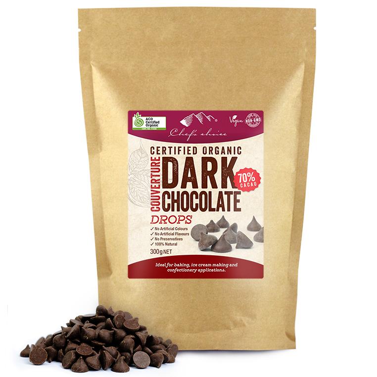 オーガニックダークチョコレート(カカオ70%)ドロップ300g