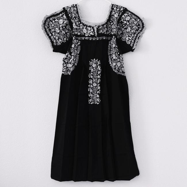 サンアントニーノ大人の刺繍ワンピース/ Black /257/ Msize / MEXICO/ &JOURNEY original
