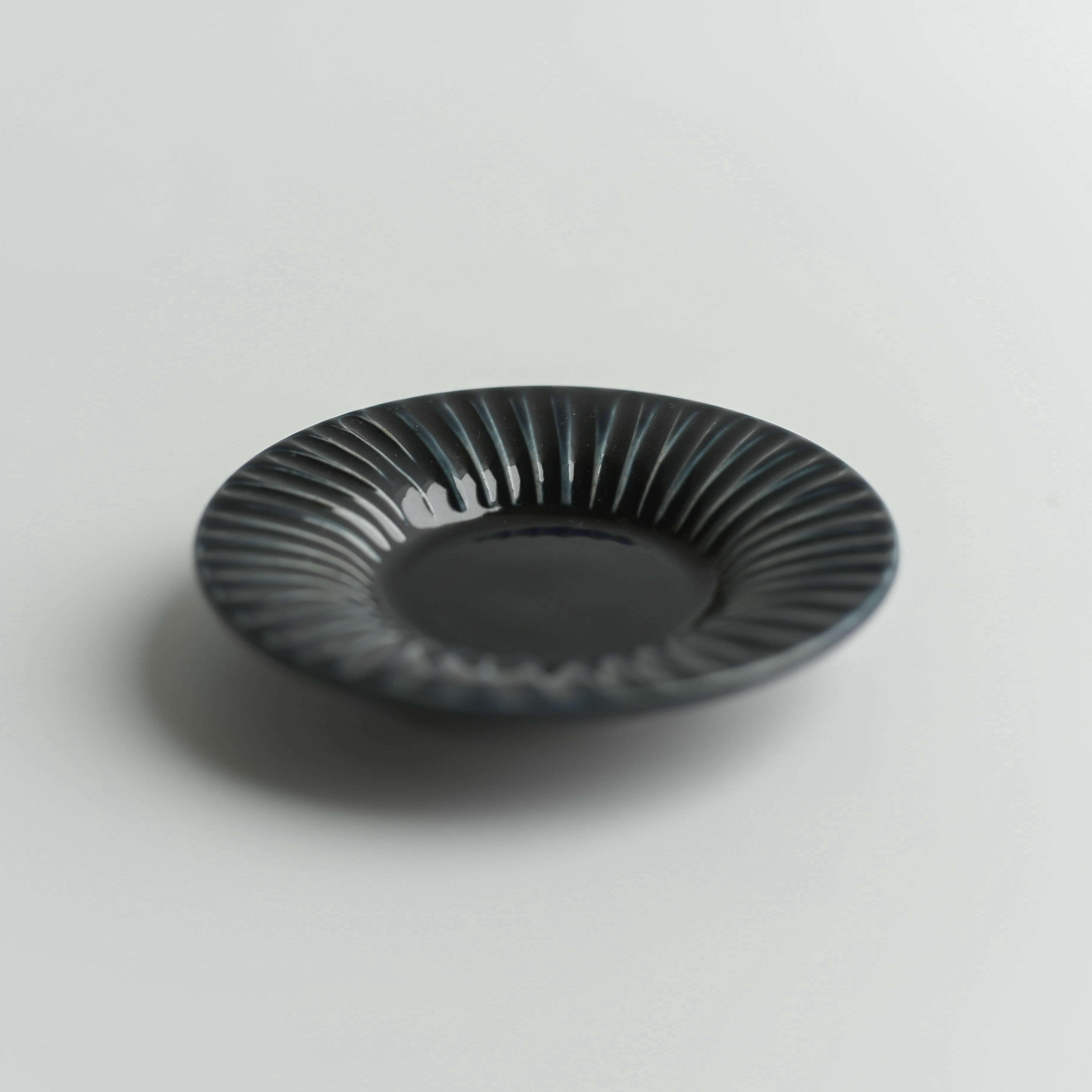 【小倉夏樹】鎬豆皿 瑠璃釉