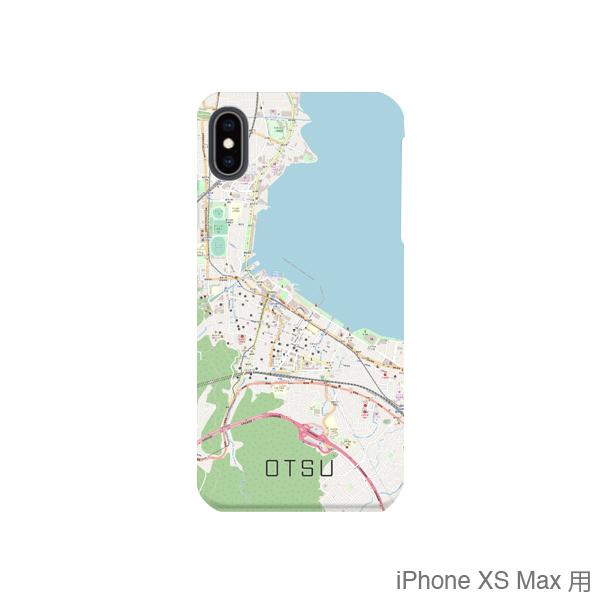 【大津】地図柄iPhoneケース(バックカバータイプ・ナチュラル)
