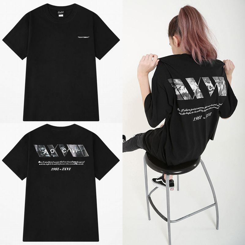 ユニセックス 半袖 Tシャツ メンズ レディース シンプル 英字 バックプリント オーバーサイズ 大きいサイズ ルーズ ストリート