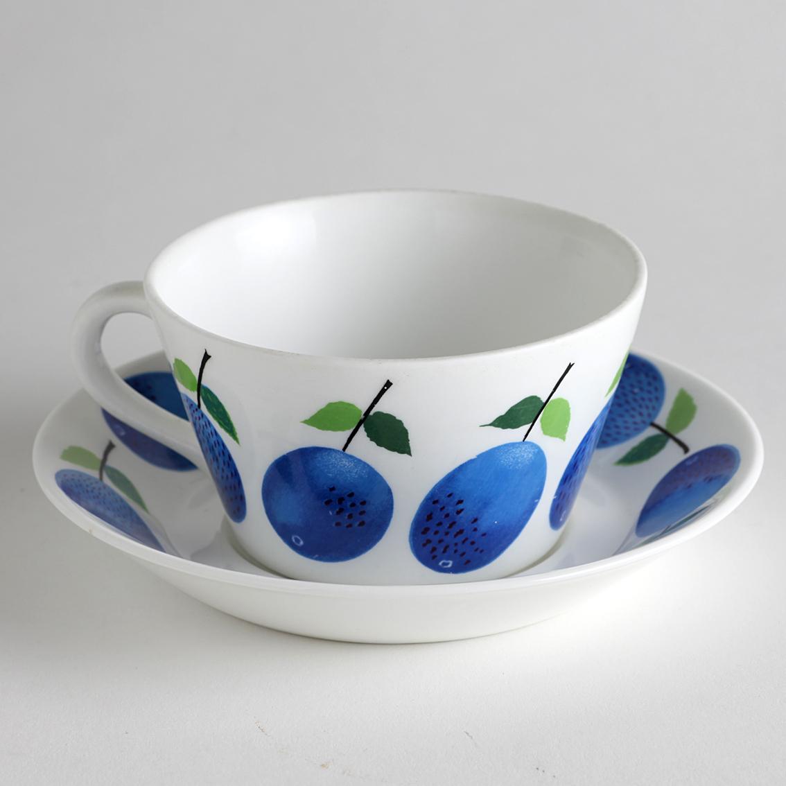 Gustavsberg グスタフスベリ Prunus プルーヌス ティーカップ&ソーサー-5 北欧ヴィンテージ
