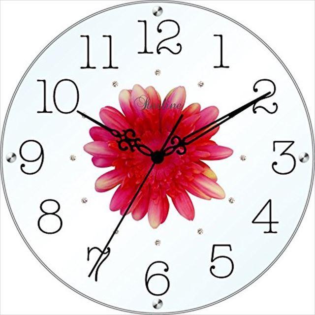 掛け時計 造花 アートフラワークロック SW-1186 スターライン - 画像1