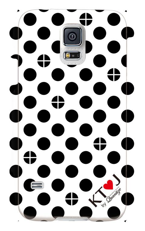 丸十ドット柄スマートフォンケース(Galaxy S5)