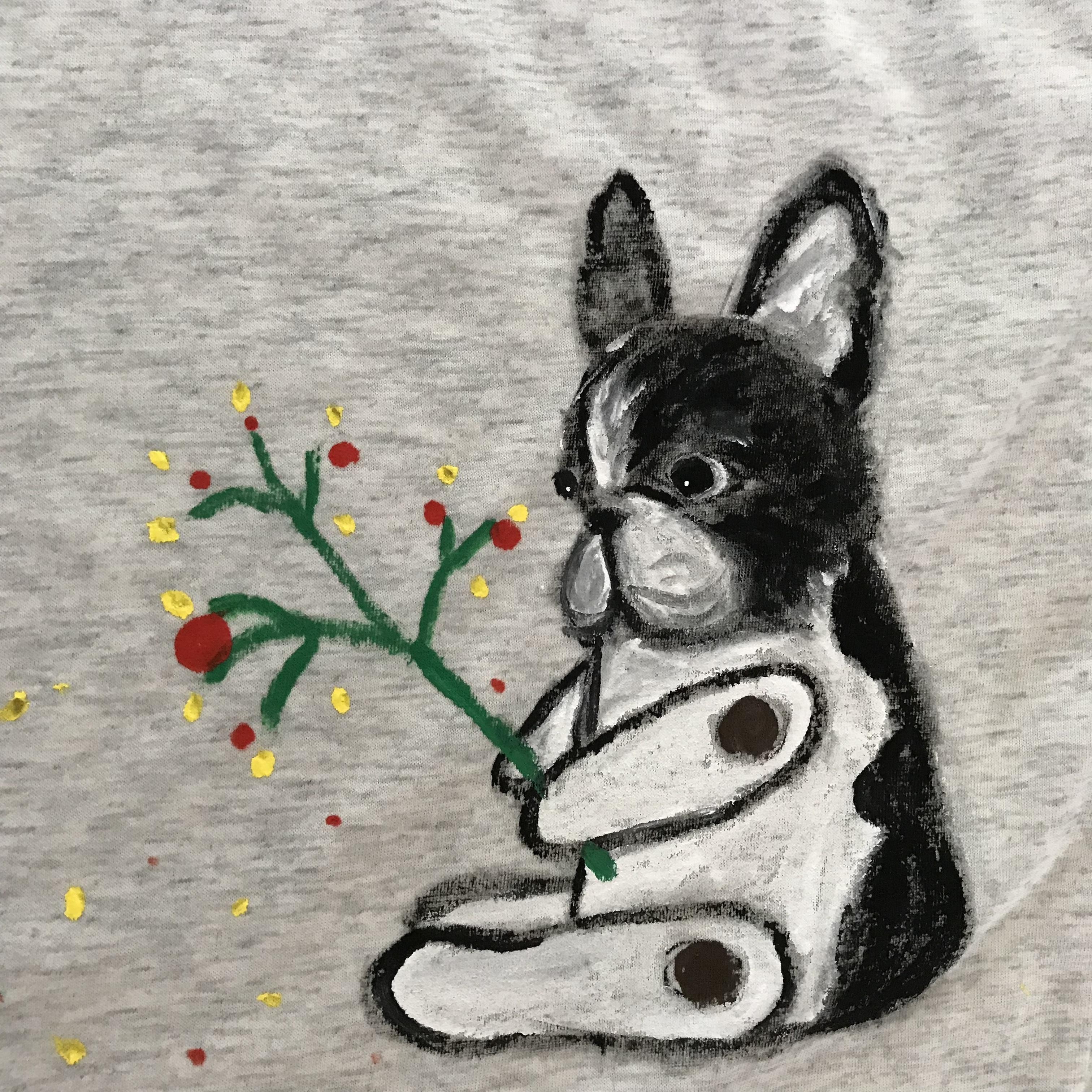 BUHIお絵描きTシャツ(レディースL)ロボット・オートミル