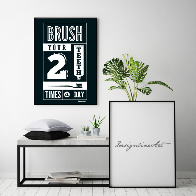 Brush B3ポスター(フレーム入り)