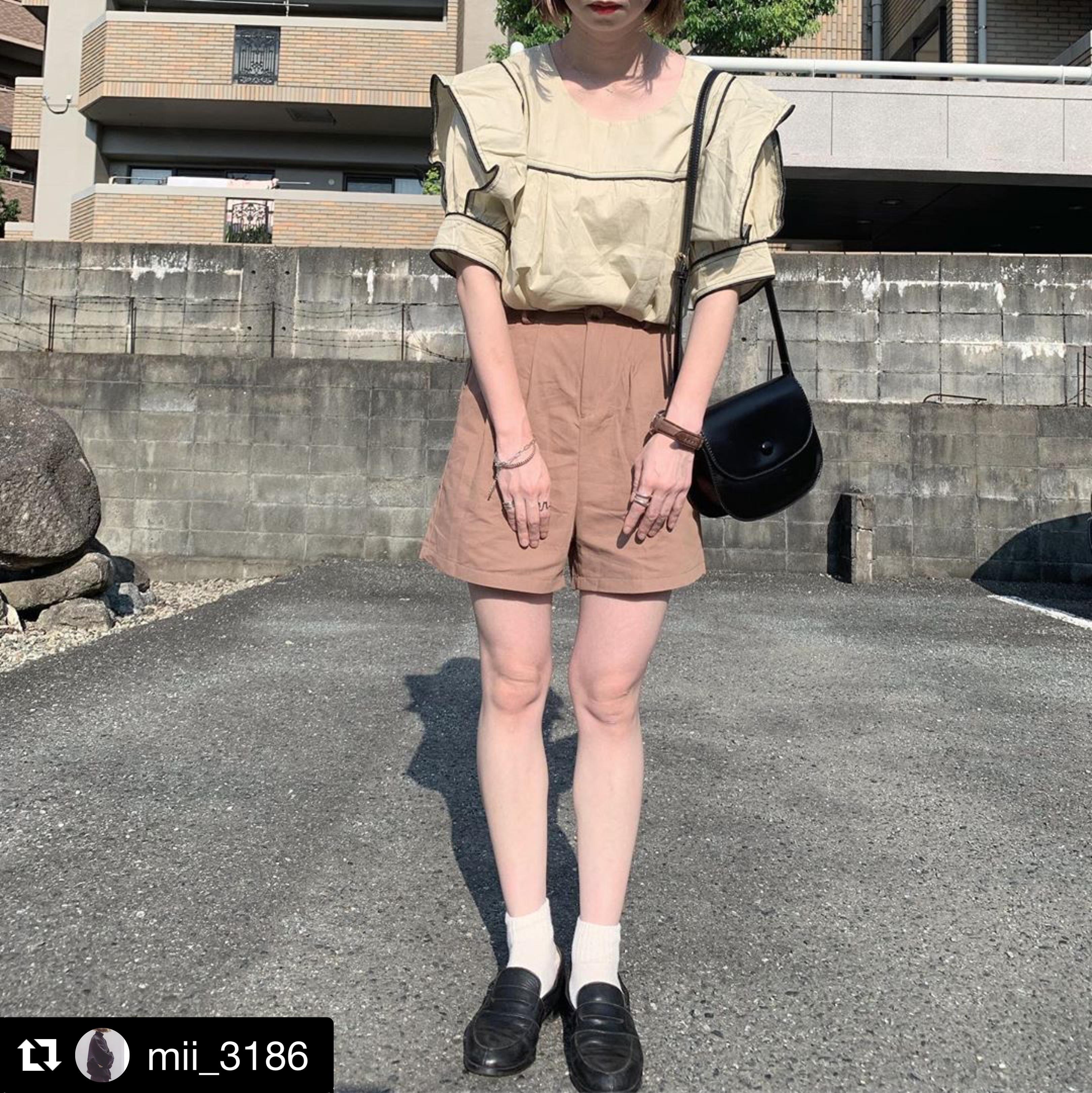 【送料無料】 女っぽカジュアル♡ 大人可愛い きれいめ ブラウス ショートパンツ 2点セット ワントーンコーデ