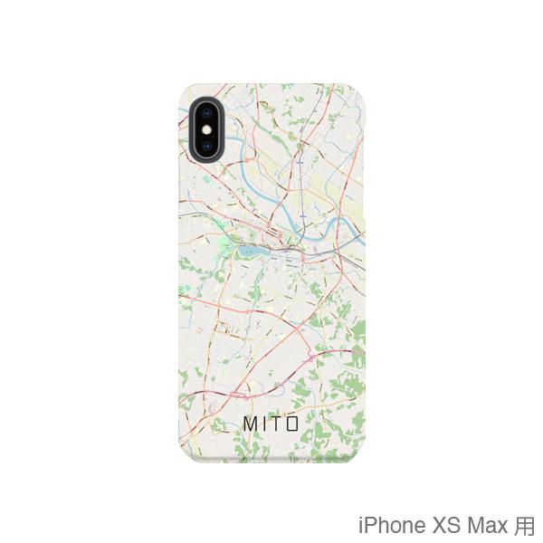 【水戸】地図柄iPhoneケース(バックカバータイプ・ナチュラル)