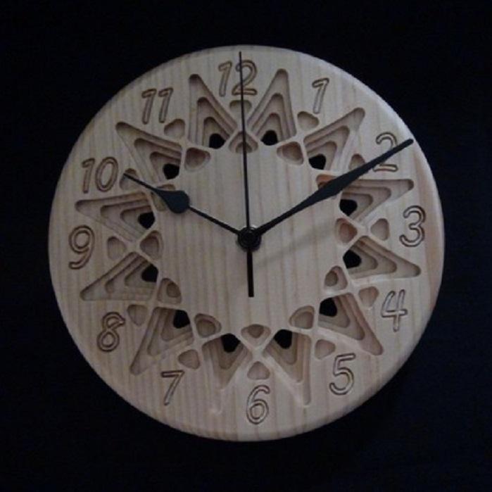 【幾何学・星座模様の掛け・置き時計(2種)】 プレゼントとしてもおしゃれ