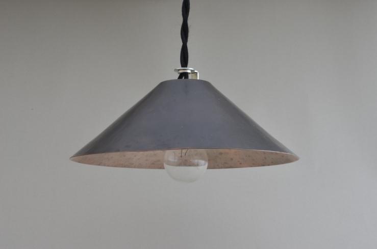 ランプシェード S / 銅(黒)/ 深型 / 直