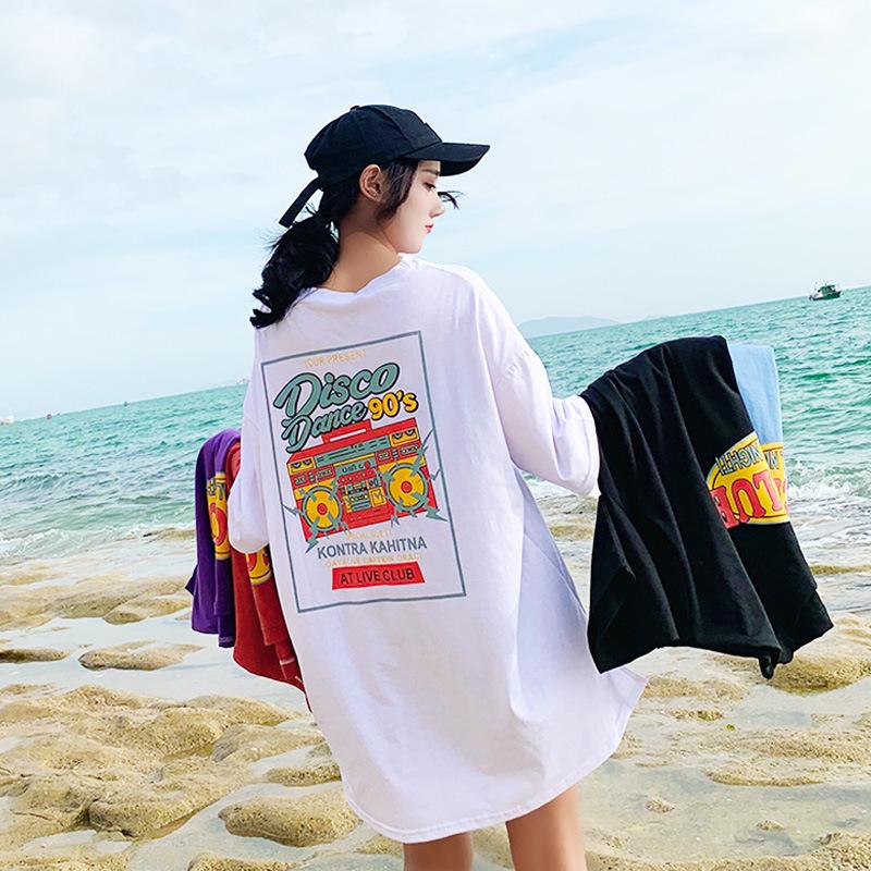 【tops】カジュアルプルオーバー配色Tシャツ22164877