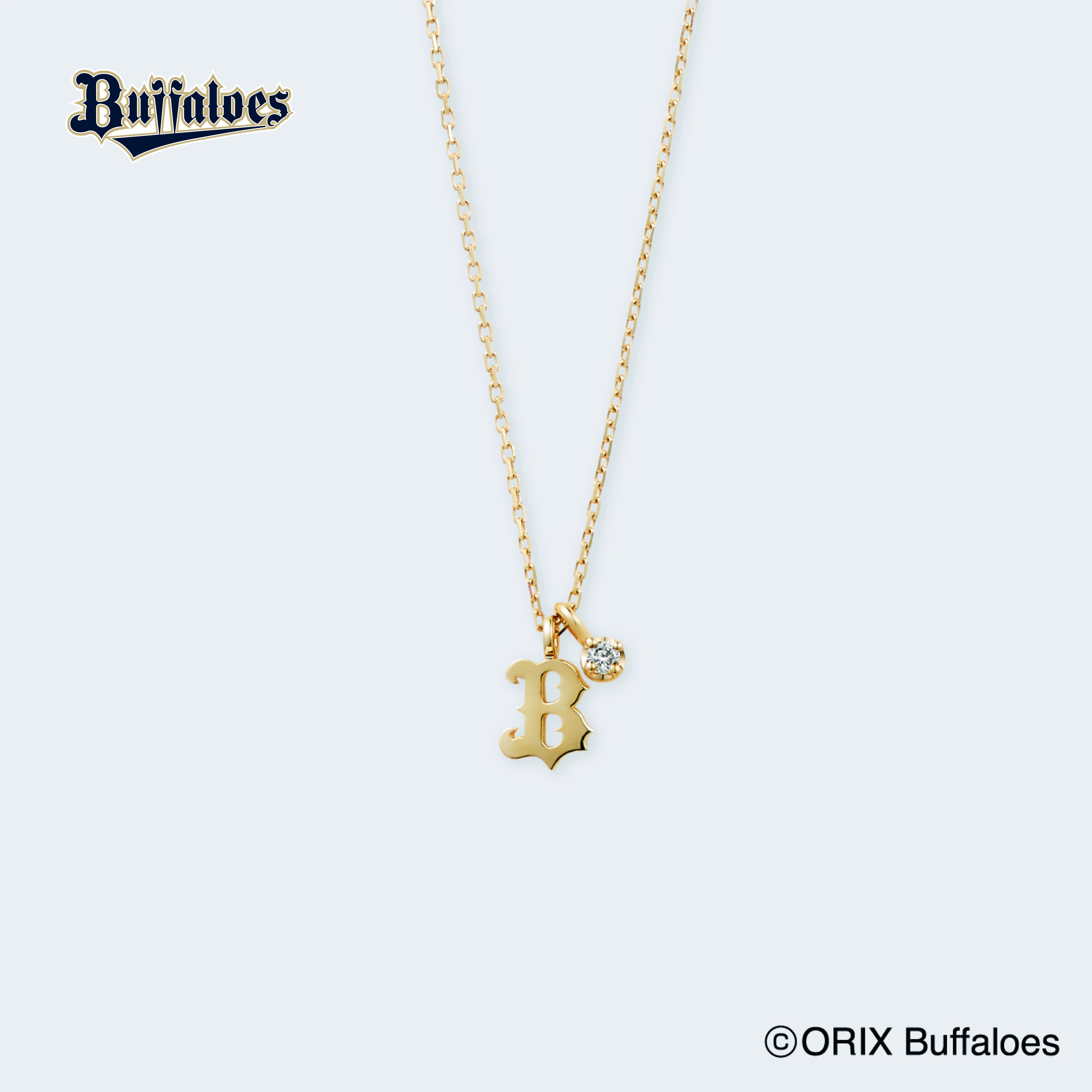ビジュピコ×プロ野球球団コラボネックレス・オリックス・バファローズ(K10イエローゴールド・ダイヤモンド)