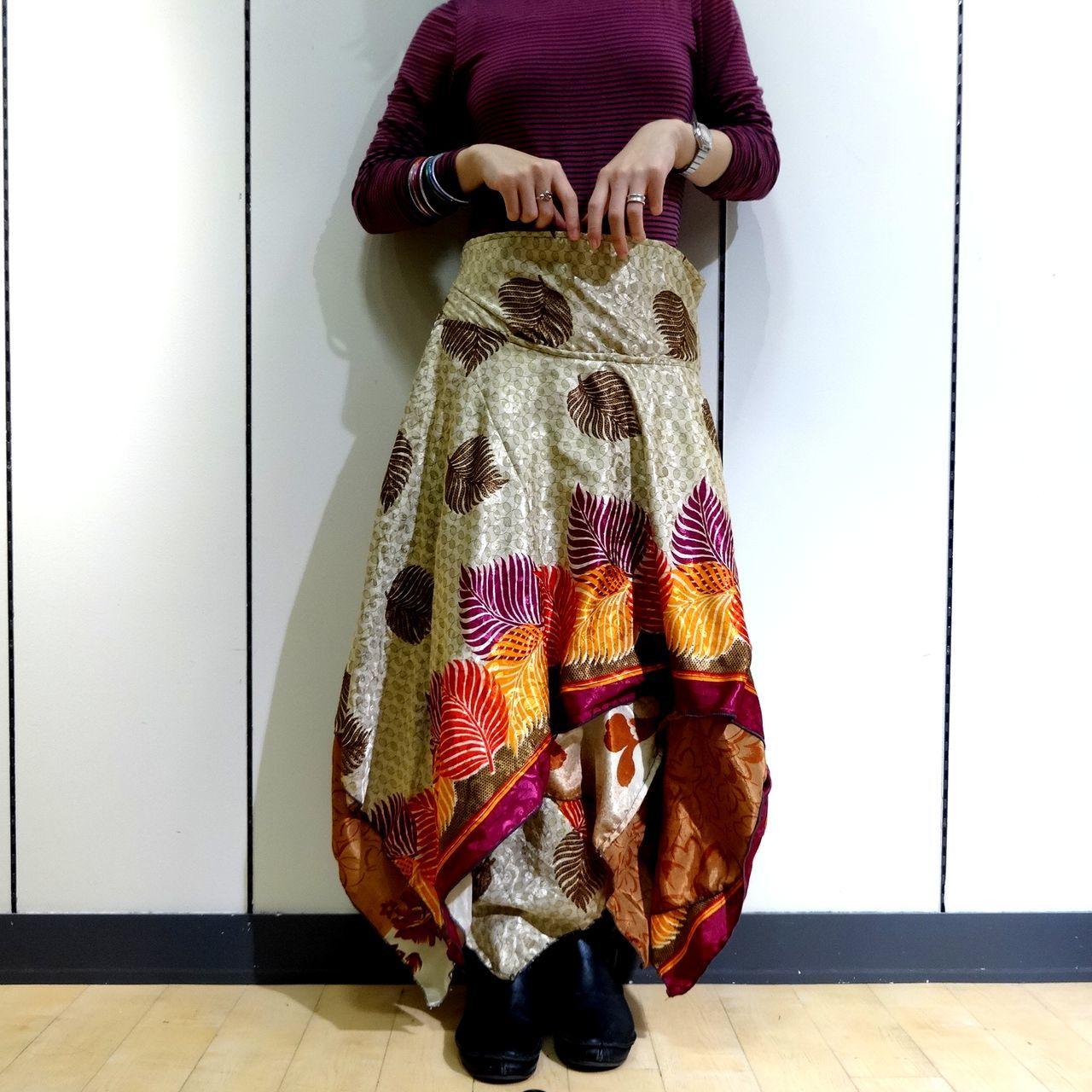 vdsz-018  ビンテージシルクサリーギザスカート「ソテツ」
