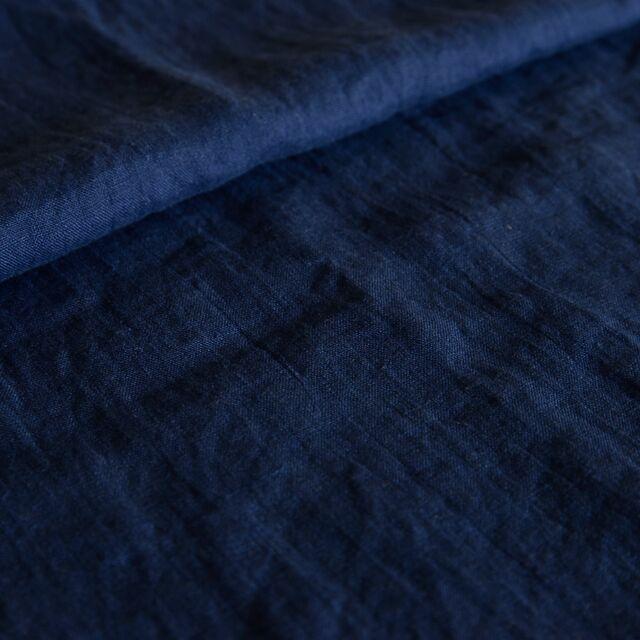 【香田あおいさん「きれいな服」掲載】リトアニアリネン/R99-273 ネイビー