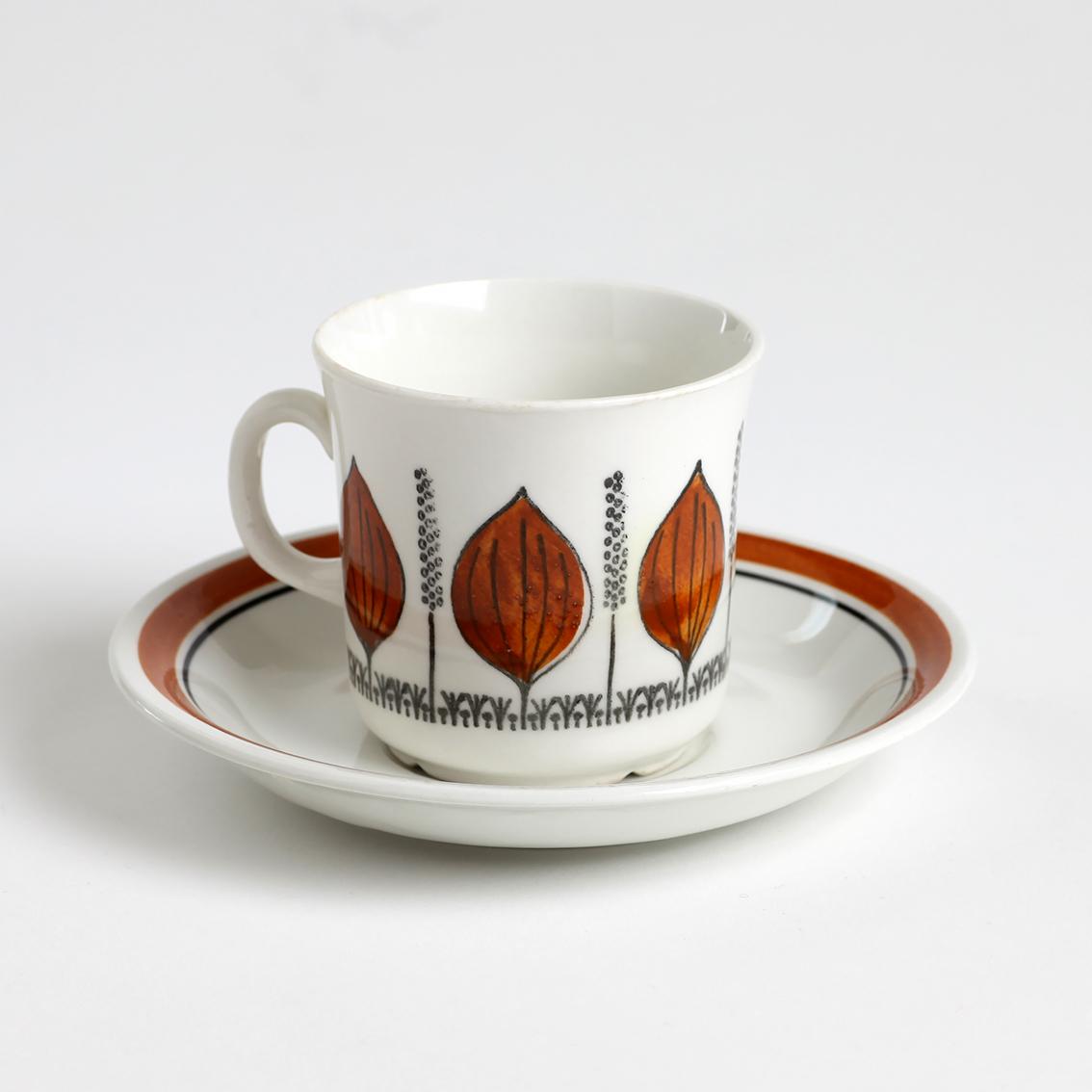 GEFLE ゲフレ Groblad グロブラッド コーヒーカップ&ソーサー - 2 北欧ヴィンテージ