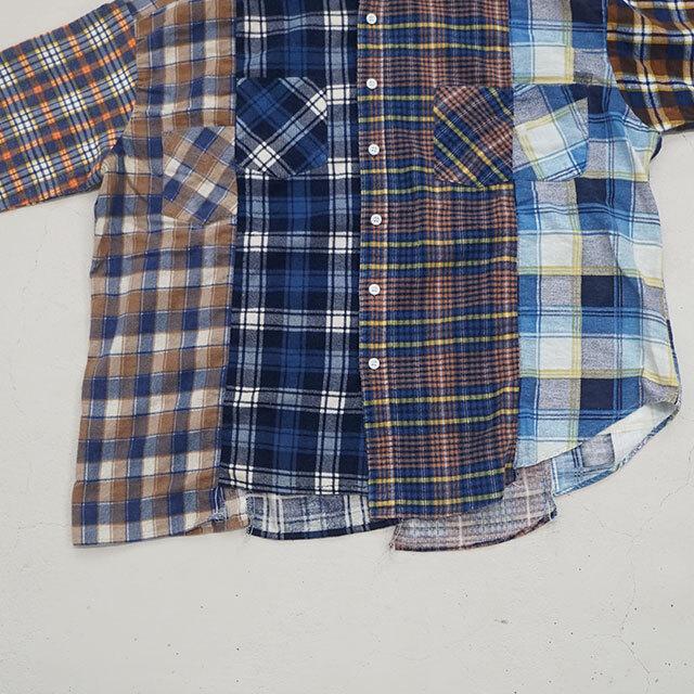 sunny side up サニーサイドアップ リメイクフランネルパッチワークシャツ (品番sr-193-008)
