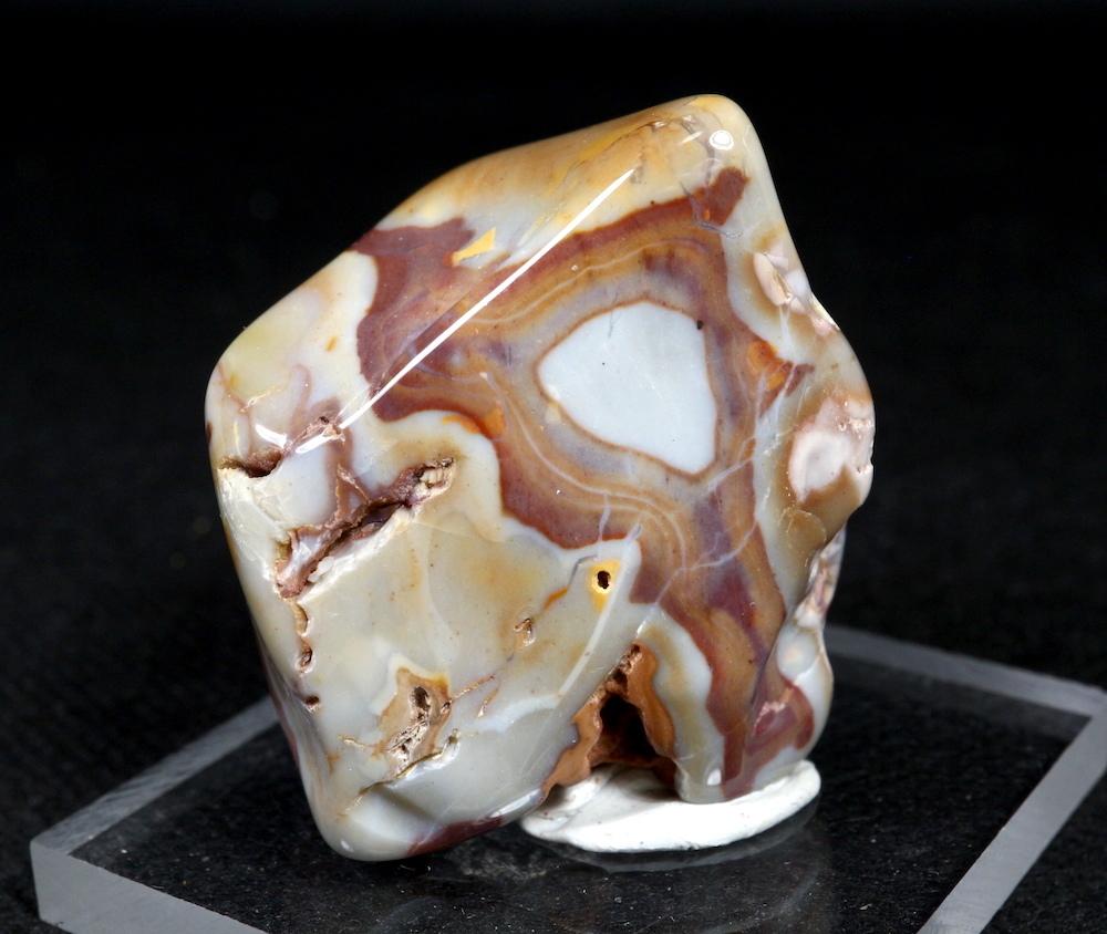 レインボー カルセドニー 54,8g RCD013 玉髄 鉱物 原石 天然石 パワーストーン