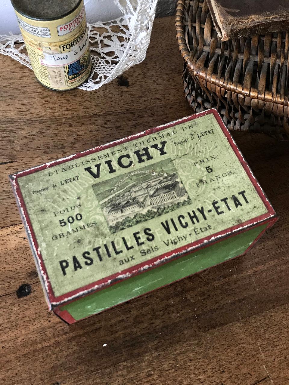 TIN缶 PASTILLES VICHY-ETAT