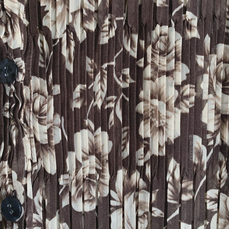 vintage flower design gather tops