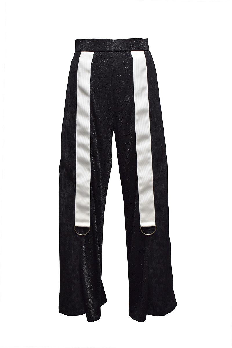 koll / lame rib pants / Black