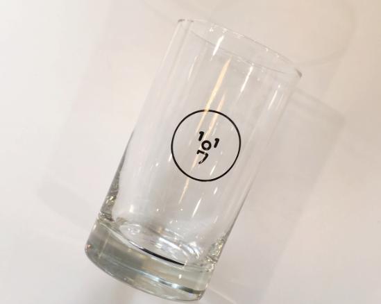 [OL-15] 1107ロゴ グラス(ブラック)